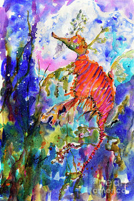 Sea Dragon Wonderland Print by Ginette Callaway