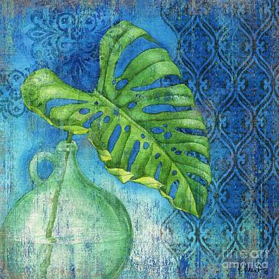 Palmettos Painting - Sea Glass Palm I by Paul Brent