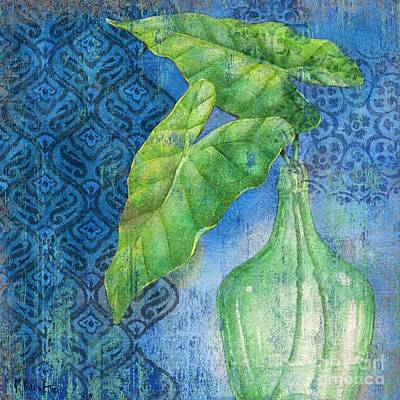 Palmettos Painting - Sea Glass Palm II by Paul Brent