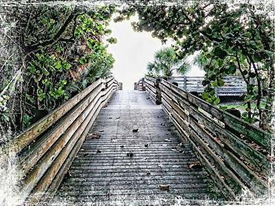 Fencing Painting - Sea Grape Boardwalk by Barbara Chichester