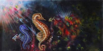 Sea Horses Print by Arun Sivaprasad