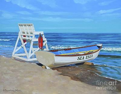 Sea Isle Beach Patrol Original by Elisabeth Olver
