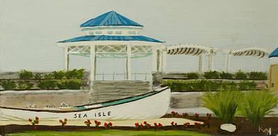 Sea Isle City New Jersey Gazebo Original by Patty Kay Hall
