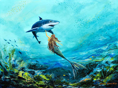 Sea Life Print by Gina De Gorna