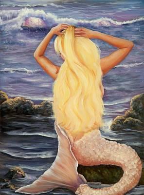 Beach Painting - Sea Maiden by Joni McPherson