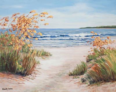 Sea Oats And Sunshine Print by Glenda Cason