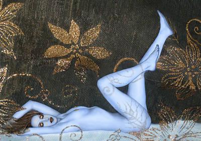 Sea Of Sensuality - Self Portrait Print by Jaeda DeWalt
