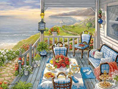 Sea Side Inn Original by Janet  Kruskamp