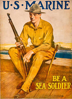 Sea Soldier Print by David Letts