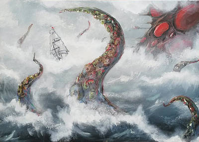 Painting - Sea Stories by Mariusz Zawadzki