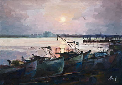 Sea Sunset Original by Maria Arnaudova