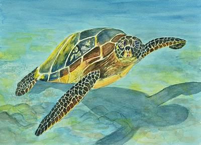 Hawaii Sea Turtle Painting - Sea Turtle by Linda Brody