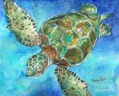 Ocean Turtle Painting - Save The Sea Turtles by Marcia Davis