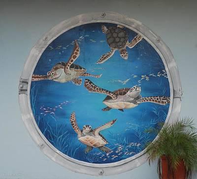 Sea Turtles Print by Rob Hans