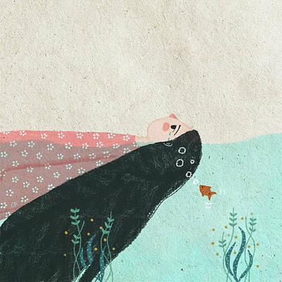 Tear Drawing - Sea Water II by Carolina Parada