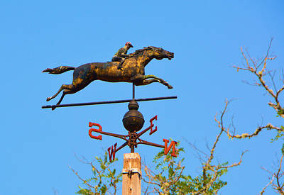 Seabiscuit Photograph - Seabiscuit's Weather Vane by Josephine Buschman