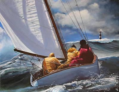 Nc Painting - Seafarers Guiding Light by Sharon Kearns