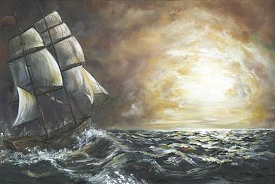 Seafarer Painting - Seafarer's Search by Pennie Strople