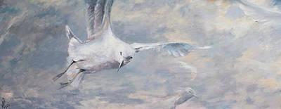 Nature Abstract Drawing - Seagull by Vali Irina Ciobanu