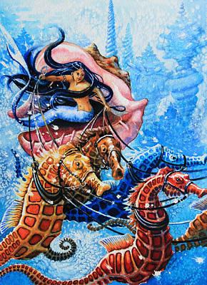Undersea Painting - Seahorse Coach by Hanne Lore Koehler