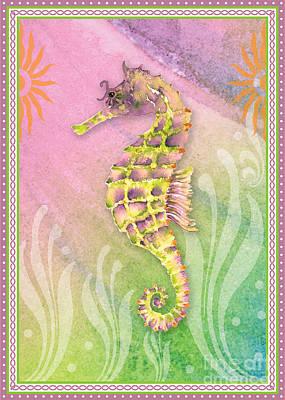 Seahorse Painting - Seahorse Violet by Amy Kirkpatrick