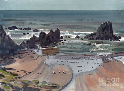 Oregon Painting - Seal Rock Oregon by Donald Maier