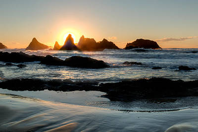 Seascape Photograph - Seal Rock Sunset by Kristina Rinell