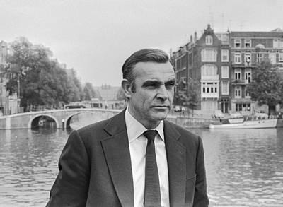 Sean Connery As James Bond Print by Georgia Fowler