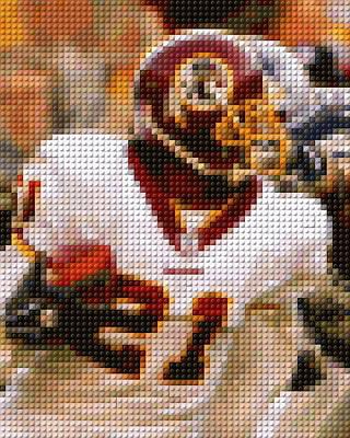 Redskins Mixed Media - Sean Taylor Lego Mosaic by Paul Van Scott