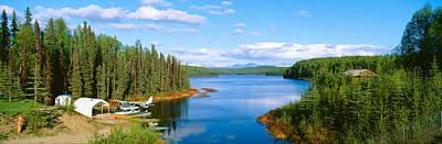 Wetlands Photograph - Seaplane On Talkeetna Lake, Alaska by Panoramic Images
