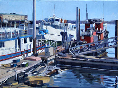 Southie Painting - Seaport Ave by Deb Putnam