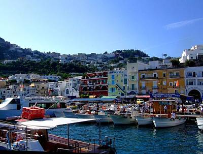 Seaport Of Capri Italy Print by Mindy Newman