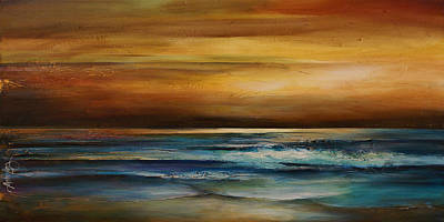 Mood Painting - Seascape 1 by Michael Lang