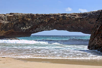 Aruba Photograph - Seascape Land Bridge by Linda Phelps