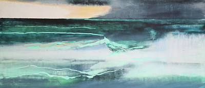 Sea View Painting - Seascape by Lou Gibbs