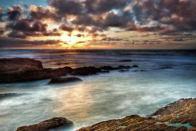 Seascape Paintings For Sale - Ocean Breath Print by Frances Leigh