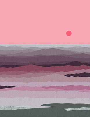 Seascape Pinks Print by Val Arie
