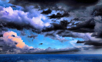 Seascape Print by Theresa Campbell