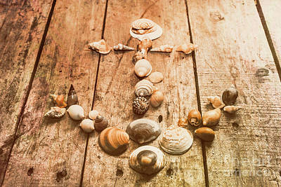 Seashell Nautical Anchor Print by Jorgo Photography - Wall Art Gallery