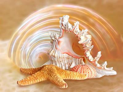 Seashell Sandy Paradise Print by Gill Billington