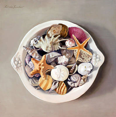 Seashell Painting - Seashells by Linda Tenukas