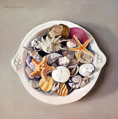 Seashells Print by Linda Tenukas