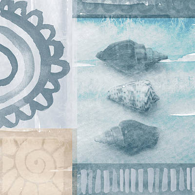 Seashells  Print by Linda Woods