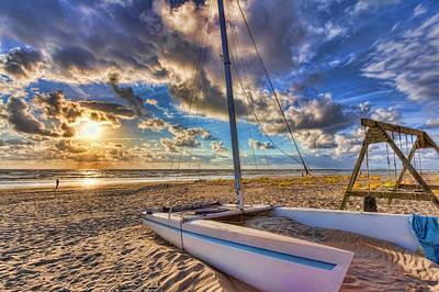 Netherlands Photograph - Seaside At Sunset by Nadia Sanowar