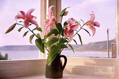 Seaside Lilies Print by Terri Waters