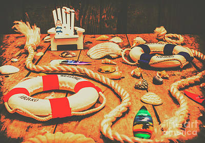 Buoys Photograph - Seaside Ropes And Nautical Decks by Jorgo Photography - Wall Art Gallery