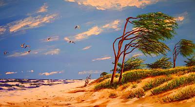 Seaside Solitude Print by Mountain Dreams