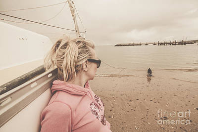 Seaside Stopover Print by Jorgo Photography - Wall Art Gallery