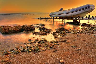 Seascape Photograph - Seaside Sunset by Nadia Sanowar