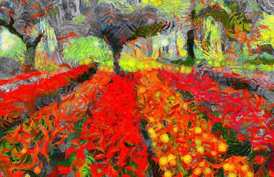 Season Of Romance - Painting - Spring Original by Sir Josef Social Critic - ART